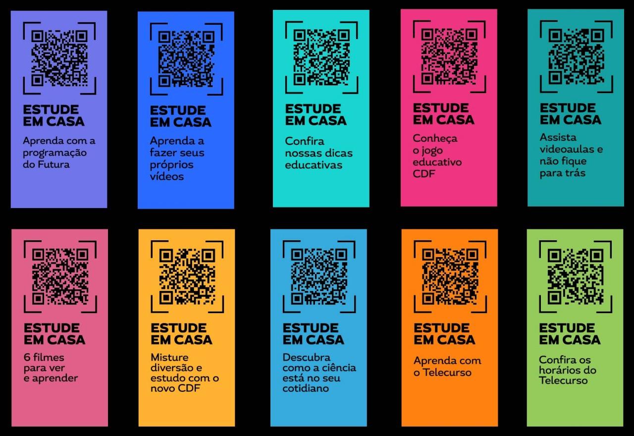 QR Codes na tela do Canal Futura